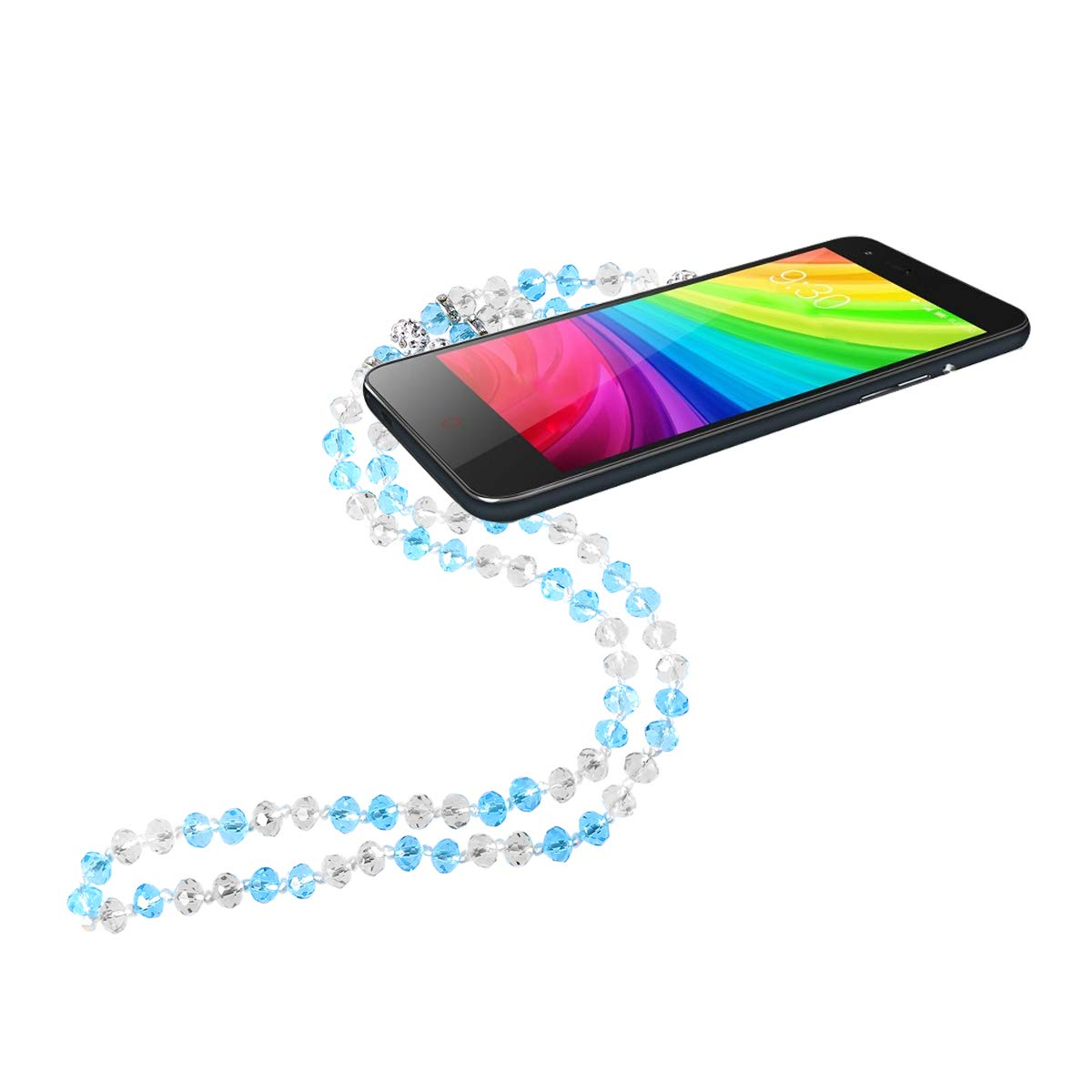 3pcs cha/îne de cristal de lani/ère de t/él/éphone portable lani/ère d/étachable sangle de t/él/éphone portable anti-perdue lani/ère de t/él/éphone cordon suspendu sangle de corde porte-cl/&