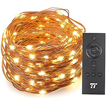66ft 200 LED String Lights With RF Remote Control, Super Soft Copper Wire TaoTronics Waterproof Outdoor And Indoor Decorative Lights For Bedroom, Patio, Garden, Gate, Yard, and More