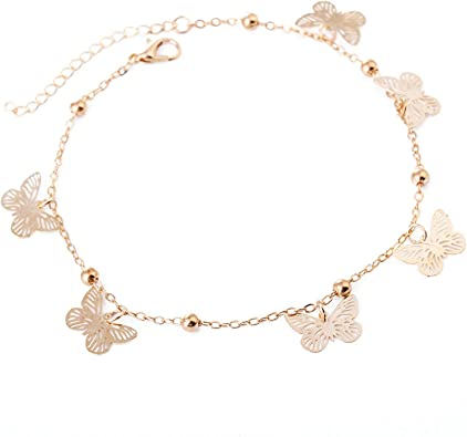 bracelet cheville femme papillon
