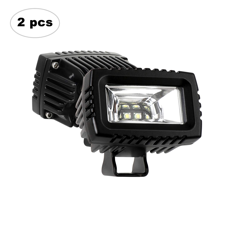 Traktor SUV AAIWA 20W Unterputzmontage Arbeitsscheinwerfer 2PCS Unterputz Nebel-Beleuchtung Wasserdichte IP67 12V 24V Zusatzscheinwerfer Autofahrlicht f/ür Offroad UTV ATV