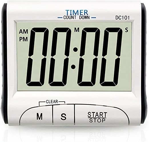 12 Hours LCD Digital Kitchen Loud Alarm Cooking Timer Count-Down Up Clock