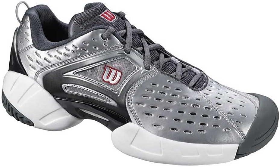 Wilson Open II – Zapatillas de tenis (Talla 48 – Silver/Black/Red: Amazon.es: Deportes y aire libre