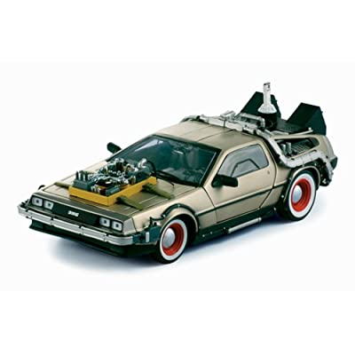 """1/18 Diecast Delorean Time Machine From """"Back to the Future 3"""" Movie by Sunstar: Toys & Games"""