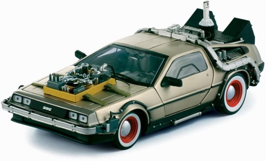 "1/18 Diecast Delorean Time Machine From ""Back to the Future 3"" Movie by Sunstar 616YYvdkFcLSL1000_"
