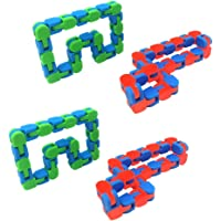 TOYANDONA 4Pcs Wacky Tracks Sensory Fidget Toys Set for Kids Adults Girls- Stress Reducer Anxiety Relief Toys for Kids…