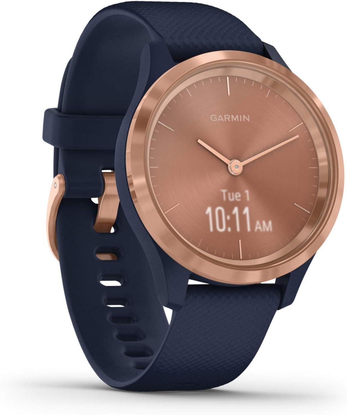 Garmin Vívomove 3S Sport Reloj Inteligente, Gold y Azul, Small