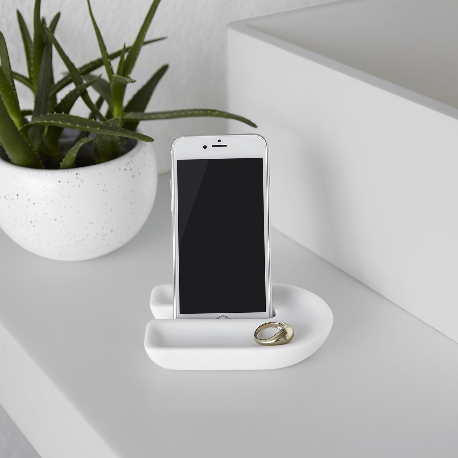 Buy Junip bathroom countertop phone holder by Umbrit