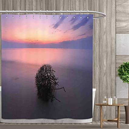 Anniutwo Eastern Shower Curtain Customized Aerial View Of Creepy Bushes In Heaven Serenity Mother Earth