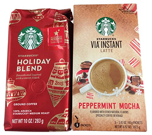 Starbucks Christmas Intermingle and Mocha Via Peppermint (Bundle: 2 Items)
