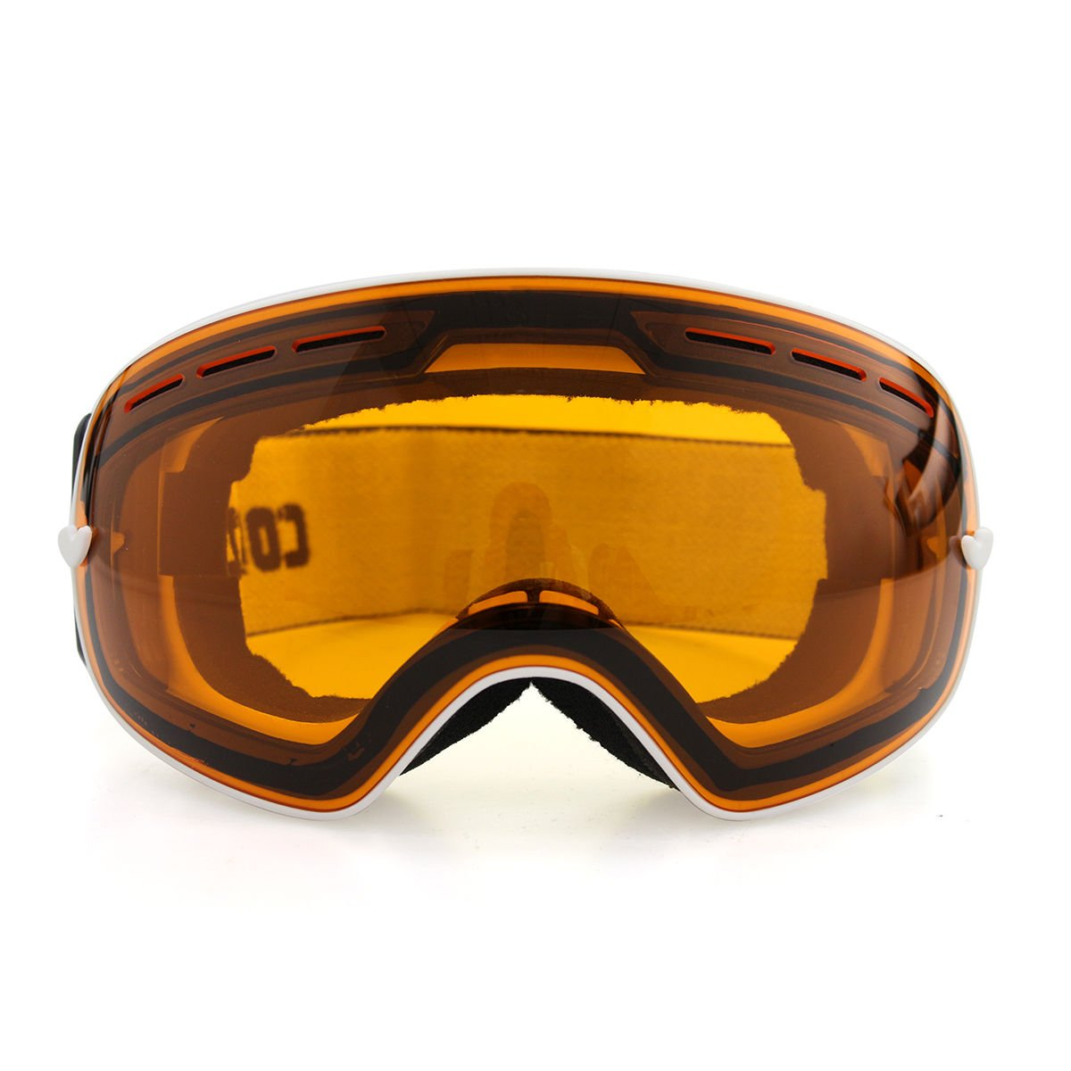 Lenseオレンジゴーグルスキースノーボードゴーグル曇り止めuv400冬スポーツスキーゴーグルセット B0721N3SJ6