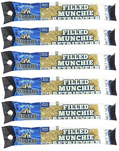 Rolls Retriever Beef - (6 Pack) Redbarn - Filled Munchie Retriever Roll, Beef