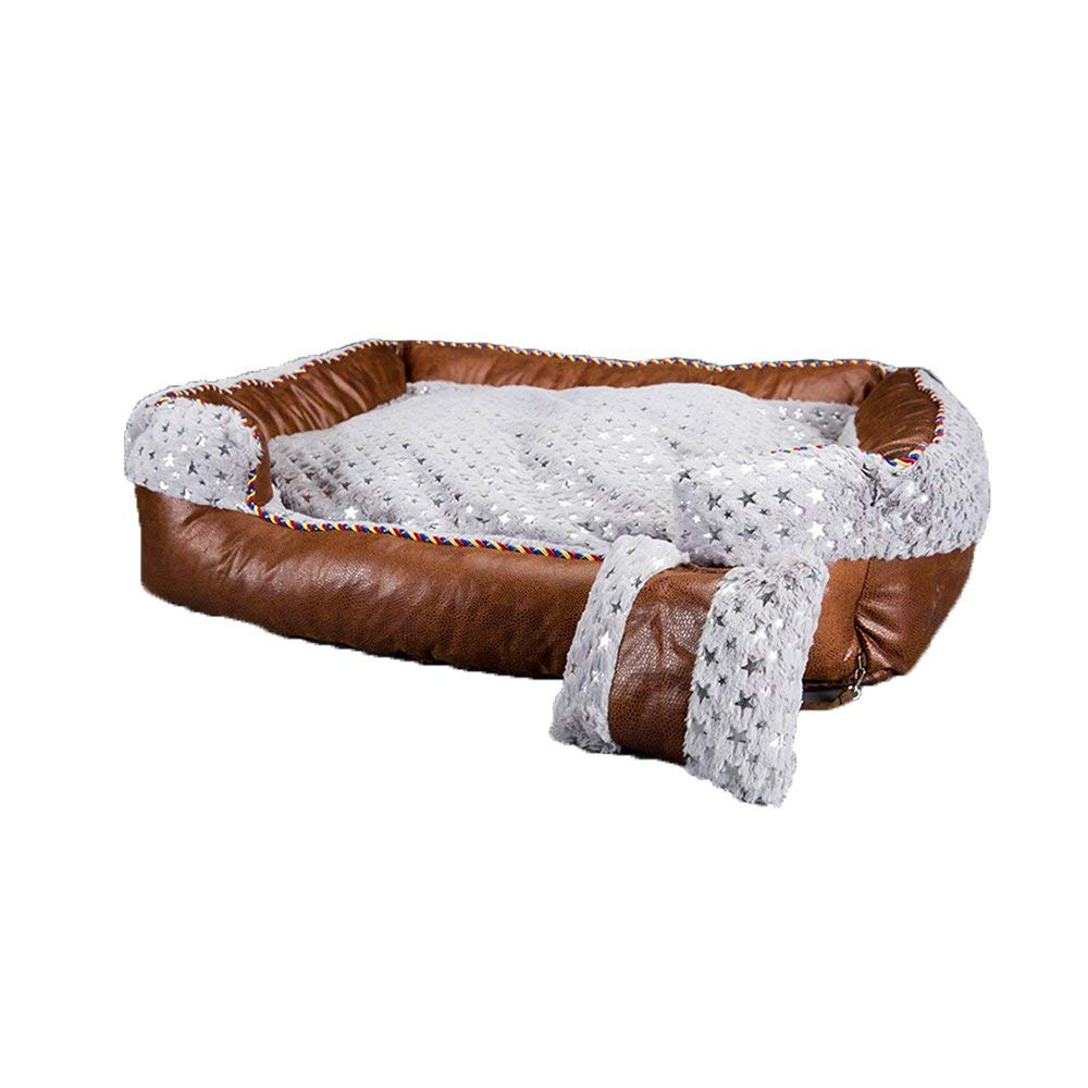 Kennel Pads Dog Beds Removable and Washable Square Nest Big Dog Kennel golden Retriever Labrador Large Dog Kennel Dog Bed Pad Four Seasons Cat Bed Pet Supplies Cover