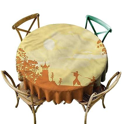 Amazon.com: familytaste Japanese,Circular Table Cover ...
