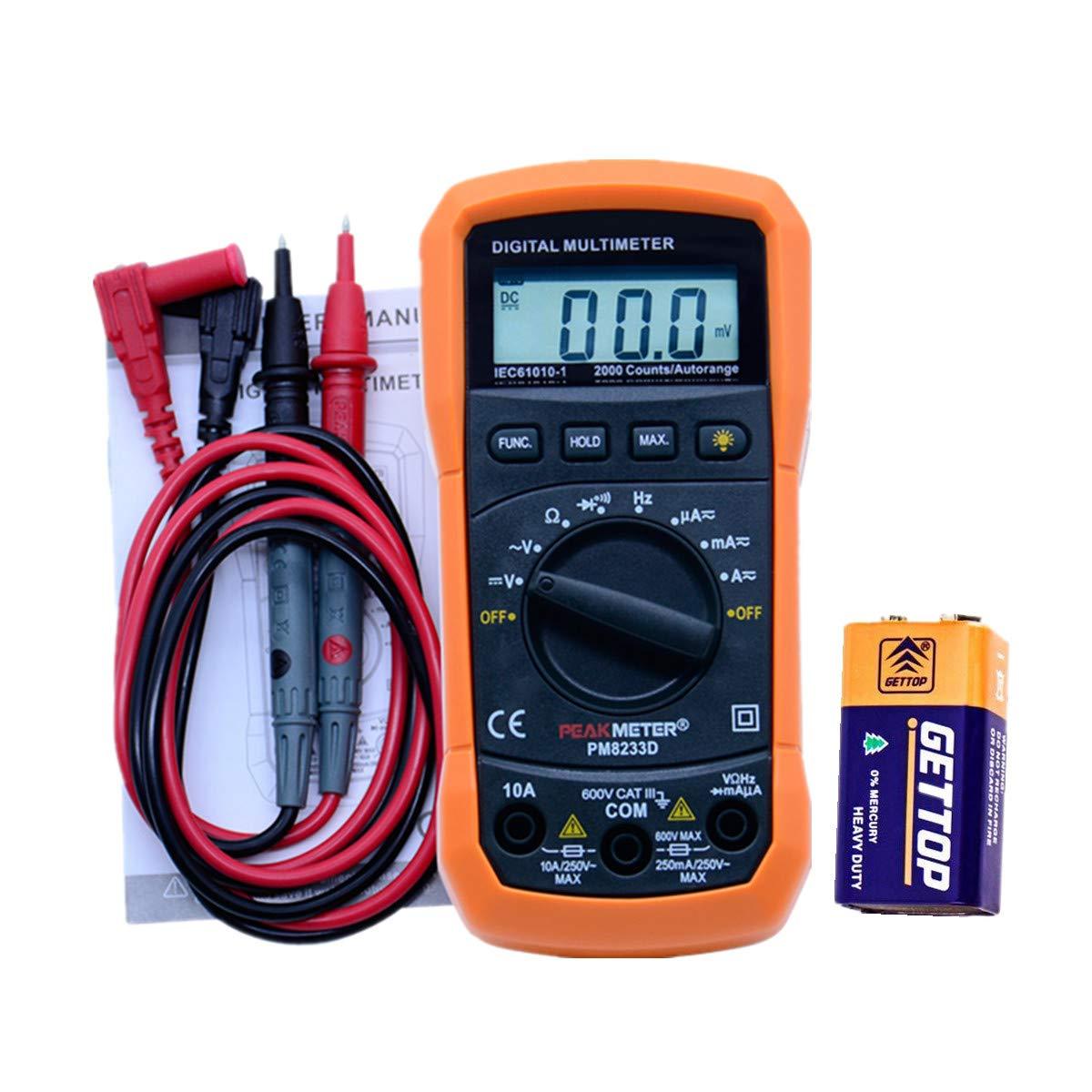 Digital Multimeter Electronic Measuring Test Meter Multi Tester Portable Voltmeter Voltage Tester Measurement Tool chuchuang