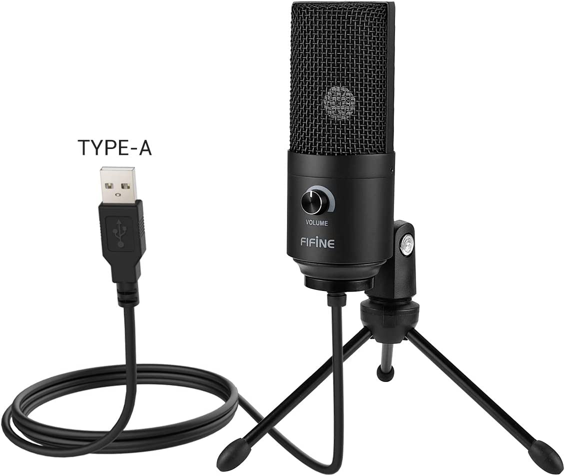 Usb Microphone Fifine Metal Condenser Recording Microphone For Laptop Mac And Windows Cardioid Studio Recording Vocals Voice Overs Streaming Broadcast And Youtube Videos K669b Amazon Ca Electronics