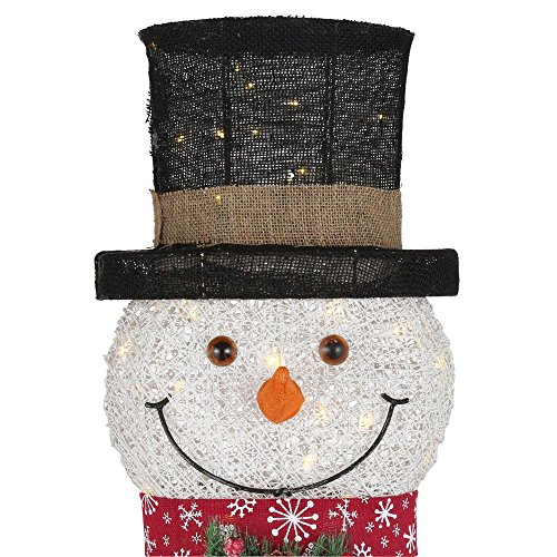 60IN 270L LED PVC SNOWMAN AND BROOM by Home Accents Holiday (Image #2)