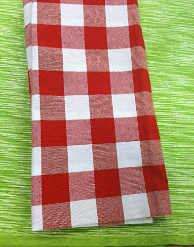 8 Red and White Fabric Napkins Birthday Cowboy Dinner Bridal or Baby Shower Thanksgiving Dinner