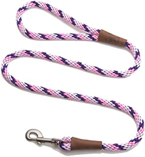 product image for Mendota Pet Snap Leash - British-Style Braided Dog Lead, Made in The USA - Lilac, 3/8 in x 4 ft - for Small/Medium Breeds
