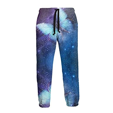 Night Sky Butterfly Hombres Pantalones Deportivos Pantalones de ...