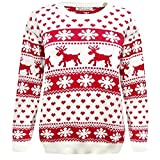 Product review for New Girls Boys Christmas Reindeer Snowflake Knitted Kids Xmas Jumper Sweater Top