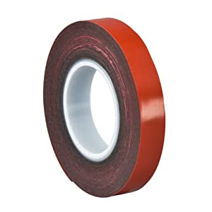 3M VHB Tape 5925 Permanent Bonding Tape Roll - 0.5in. x 15ft.  Conformable Black Tape with Acrylic Adhesive