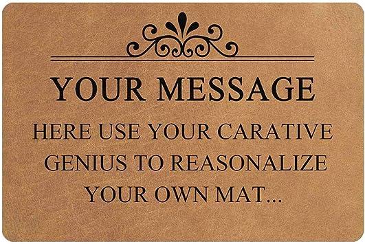 MyPhotoSwimsuits Custom Text Doormat