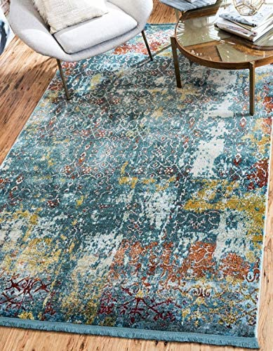 Unique Loom Baracoa Collection Bright Tones Vintage Traditional Blue Area Rug 2 2 x 3 0