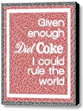 magazine article frame - Abstract Diet Coke I can Rule The World Text Mosaic Framed 9x11 Inch Limited Edition with COA