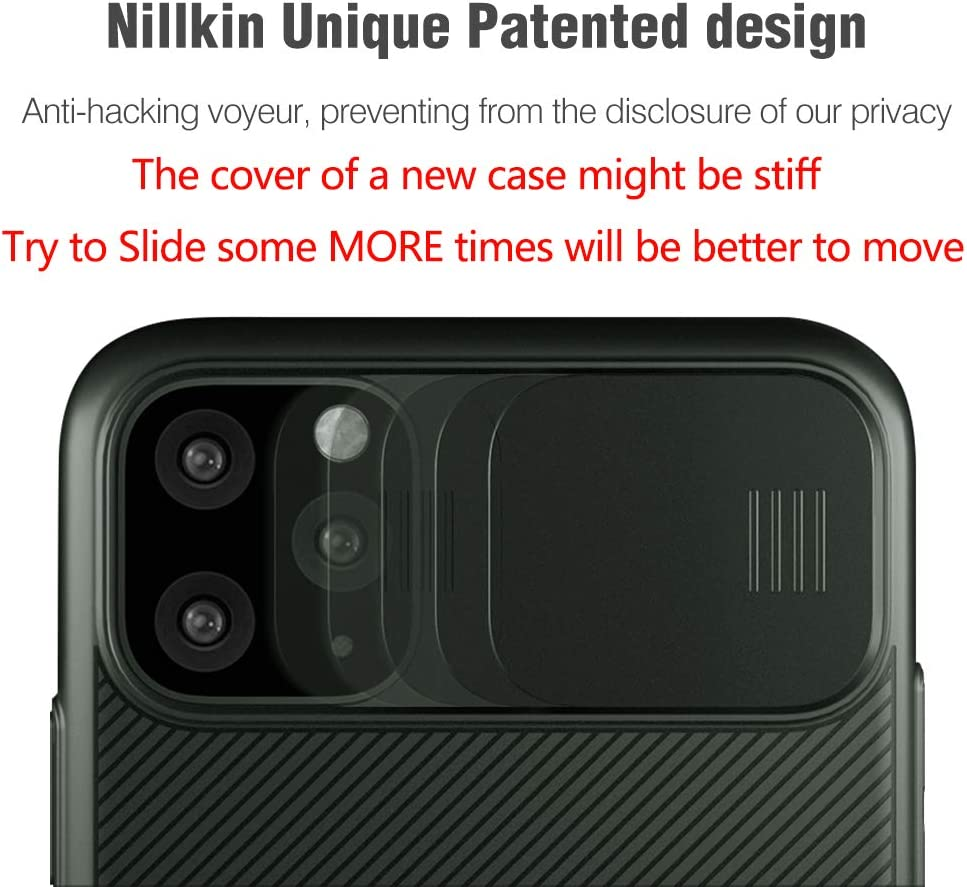 Thin Case for iPhone 11 Pro Max Anti-Scratch Camera Protector Cover iPhone 11 Pro Max Protective Phone Case 6.5 Nillkin Camshield iPhone 11 Pro Max Case, Dark Green Built-in Lens Protector