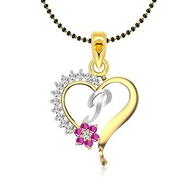 P Letter Images.Vighnaharta Pink Flower Heart Initial P Letter Mspg Cz Gold