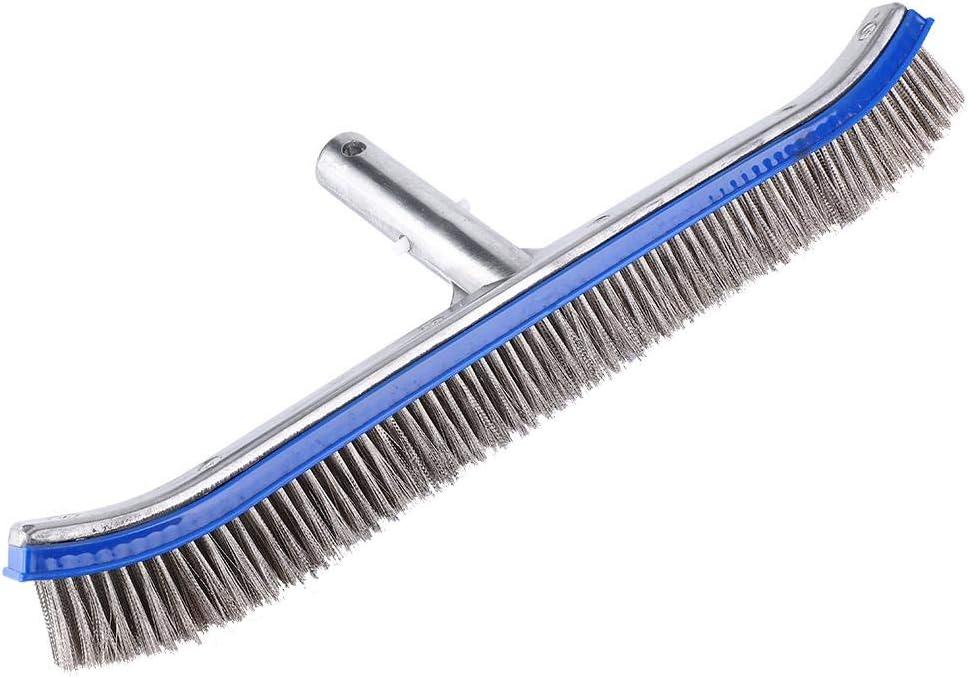 Piscina de 18 Pulgadas Cepillo de Acero Limpiador de Algas Cepillo Paredes Inferiores Suministros de Limpieza para Estanque SPA Hot Spring