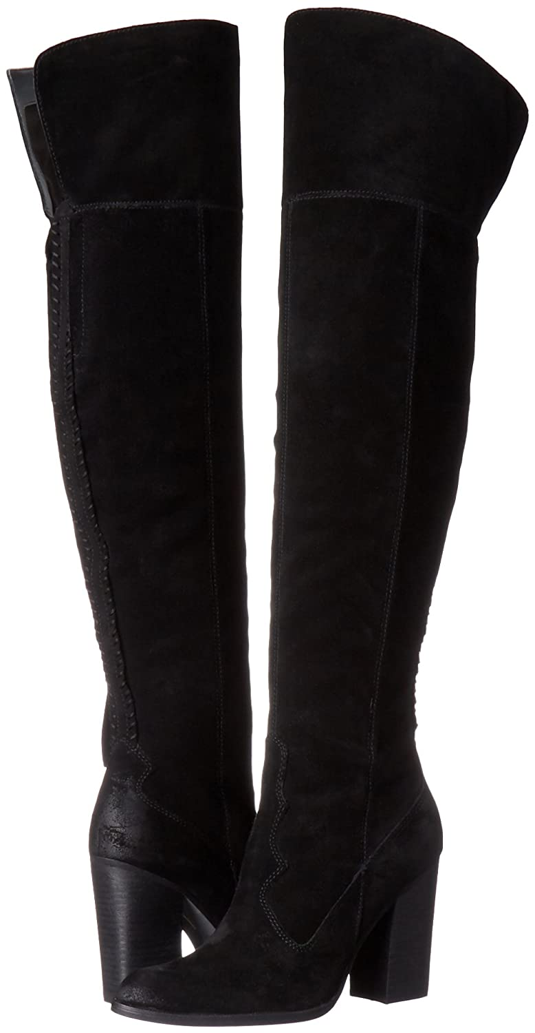 Dolce Vita Women's Cliff Thigh High Black Western Suede Boot