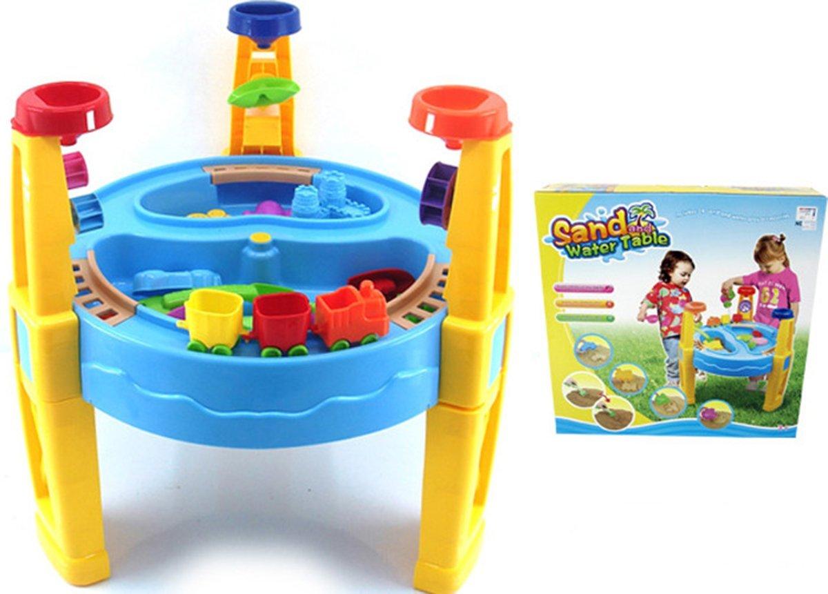 deAO Mesita Cajón Circular de Arena y Agua con Accesorios y Trencito de Juguete - Actividades de Verano Infantil: Amazon.es: Juguetes y juegos