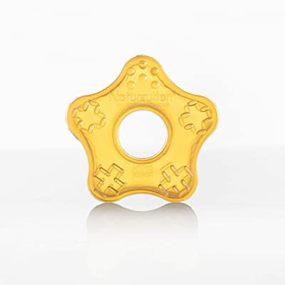 Natursutten Natural rubber Teether Toy, Starfish, Amber : Baby Pacifiers : Baby