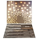 Andoer 1.5 0.9m/4.9 3.0ft Backdrop Photography Background Flower Butterfly Wood Floor Pattern