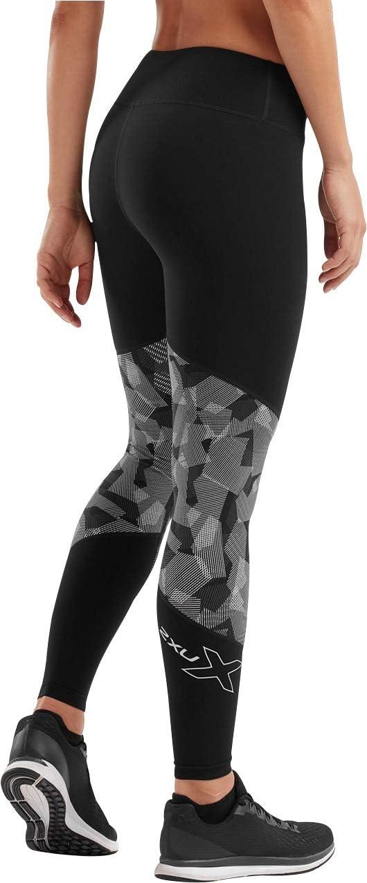 2XU Fitness Mid Rise Colour Block Collant a Compressione da Donna Nero Colore