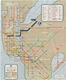 vintage nyc map - New York City Transit Maps, NYC World's Fair Subway Map 1964|24in x 29in Historic Transit / RR Map Vintage Reprint