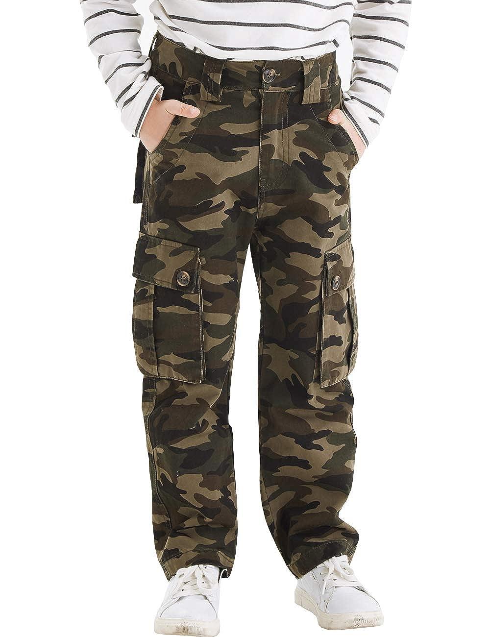 1b60d59e187 Amazon.com: BYCR Boys' Skinny Cargo Jogging Pants Cotton Regular Straight  Stretch Trousers: Clothing