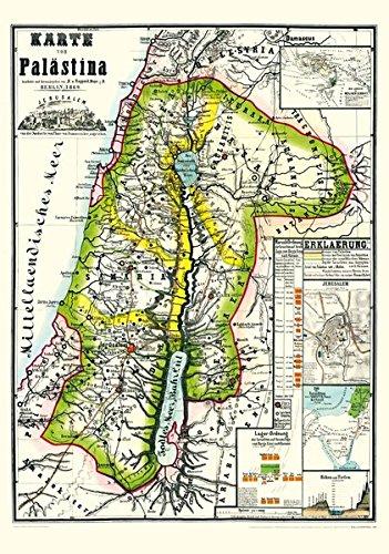 Historische Karte Von Palastina 1869 Plano Mit Gesamtansicht
