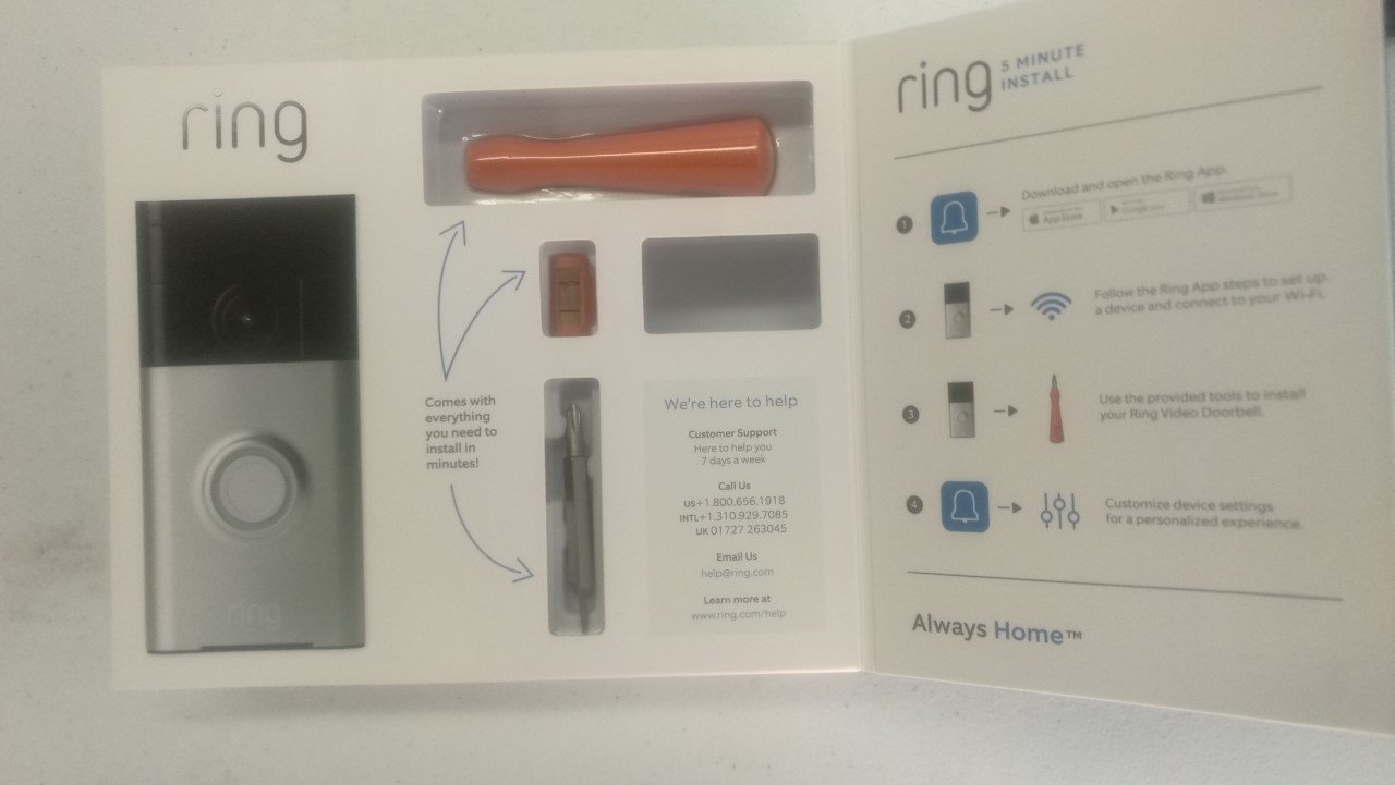 Brand New/Sealed Ring Wi-Fi Smart Video Doorbell with Installation Tools (Satin Nickel) by Ring_Doorbell (Image #5)