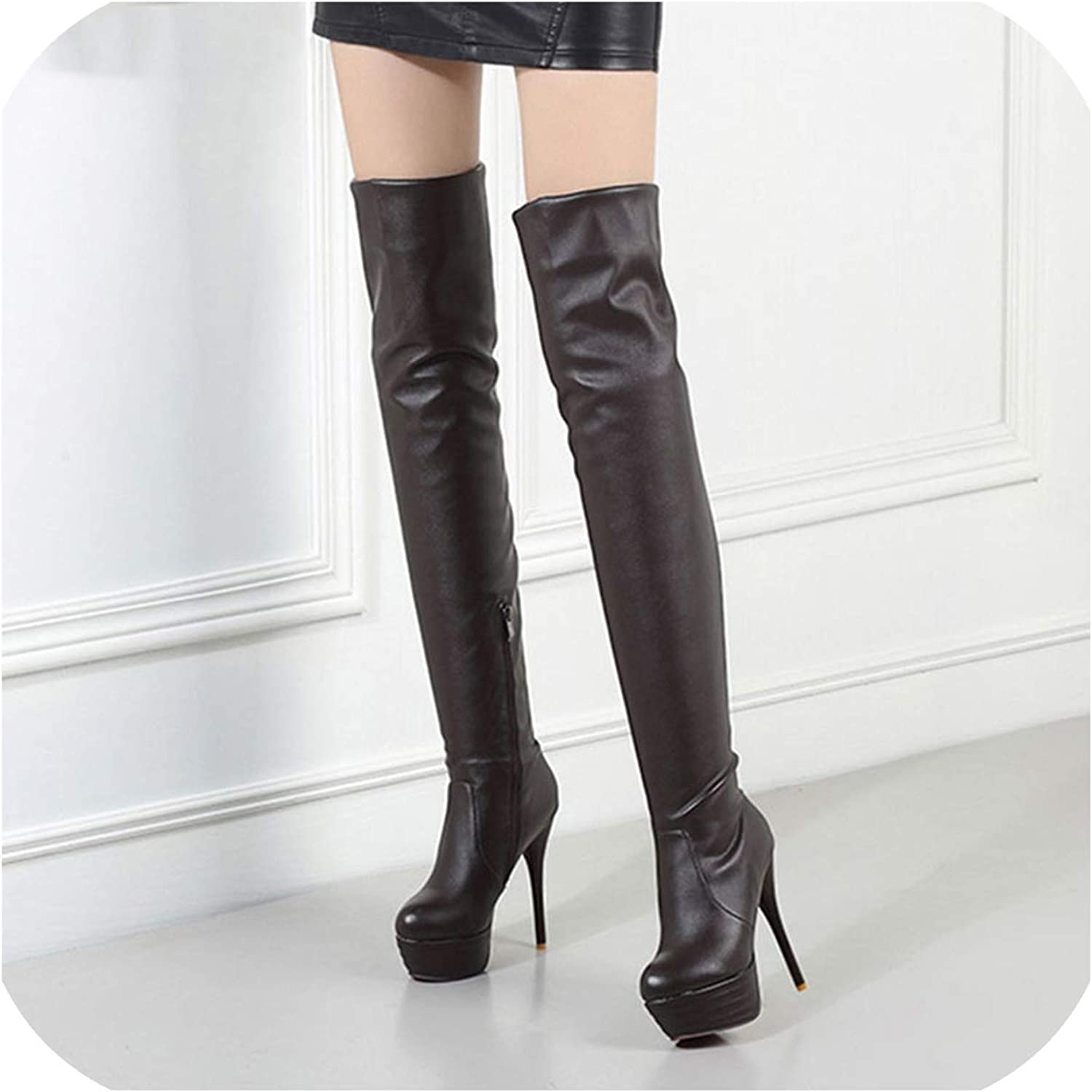 Thigh High Boots Size 12 Womens