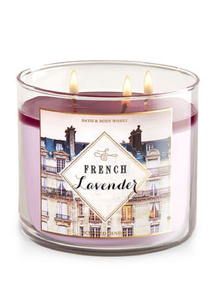Bath & Body Works Candle 3 Wick 14.5 Ounce LE 2017 French Lavender