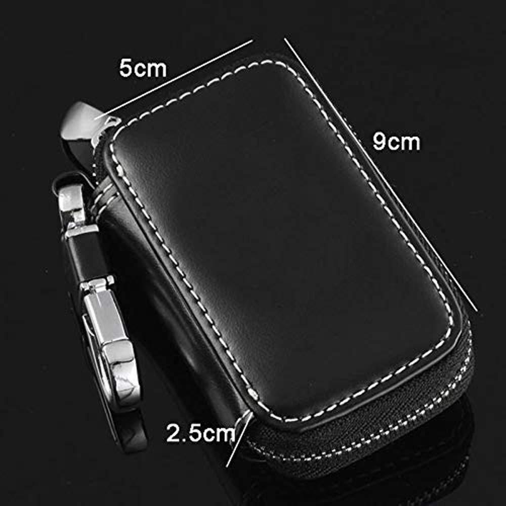 fit BMW JDclubs Black Key Chain Bag Leather Car Key Case Remote Control Package Auto Key Chains