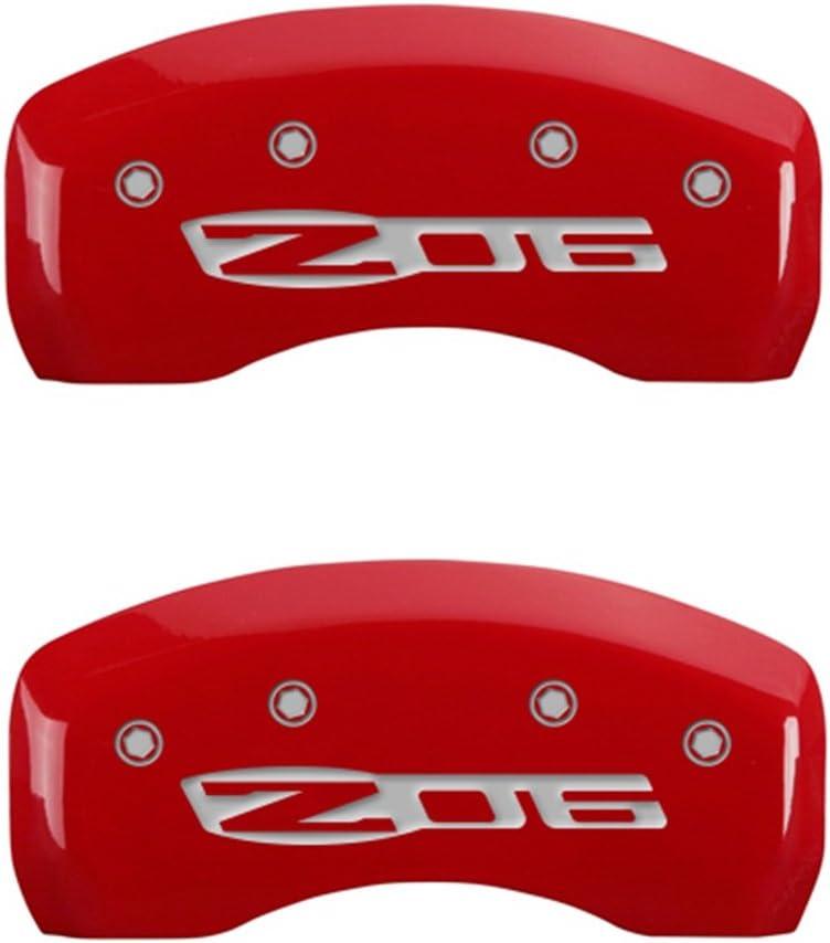 Red MGP Caliper Covers 13007SCZ5RD Caliper Cover