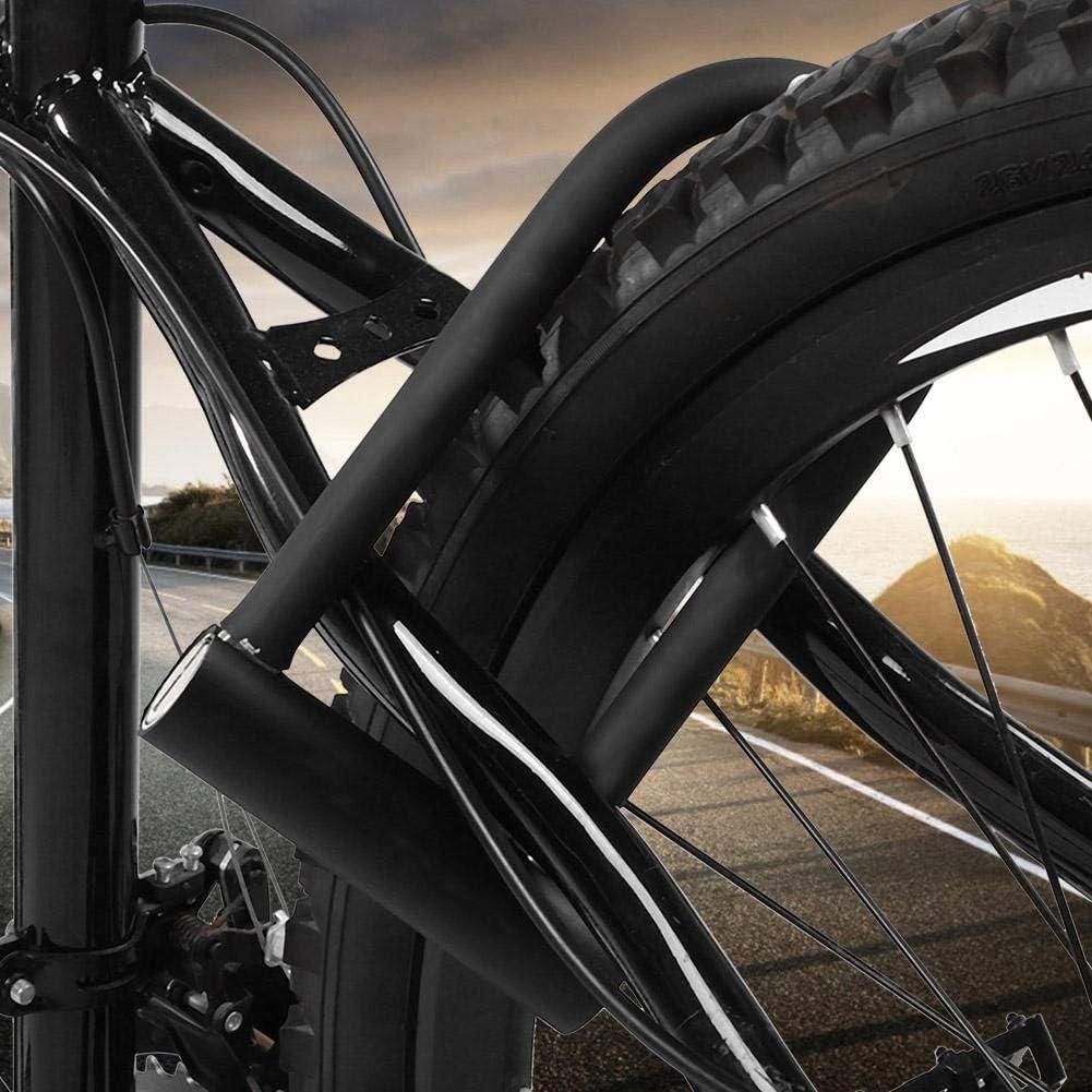 biciclette Lucchetto a forma di U per bicicletta Bicicletta in acciaio resistente Antifurto U-Lock Resistente in rame puro Nucleo per bici per porte in vetro Lucchetto a U per bici con chiavi