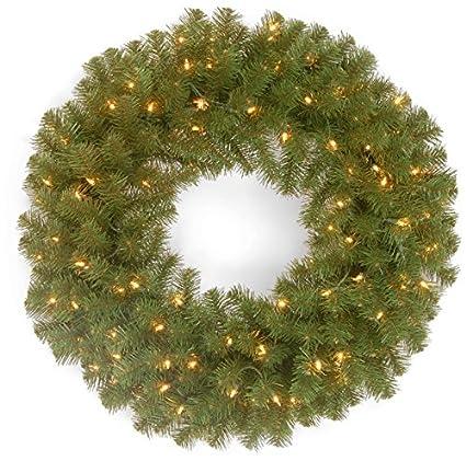 Image Unavailable - Amazon.com: Pre-Lit Artificial Christmas Wreath - 24-Inch, Clear
