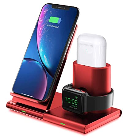 Seneo Cargador Inalámbrico Qi de Carga Rápida para iPhone X /8/8 Plus, Samsung Galaxy S7+,S7,S6+, Nokia Lumia, HTC, Moto, Google Nexus, etc