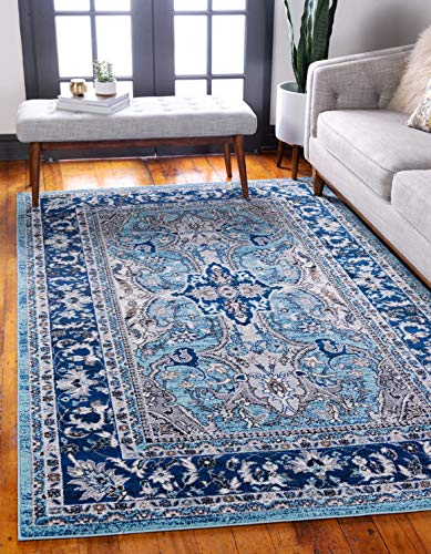 Unique Loom Tradition Collection Classic Southwestern Blue Area Rug 5 0 x 8 0