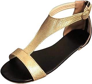 Women's Open Toe Fashion Shoes Buckle Ankle Straps Summer Design Breathable Flat Sandals