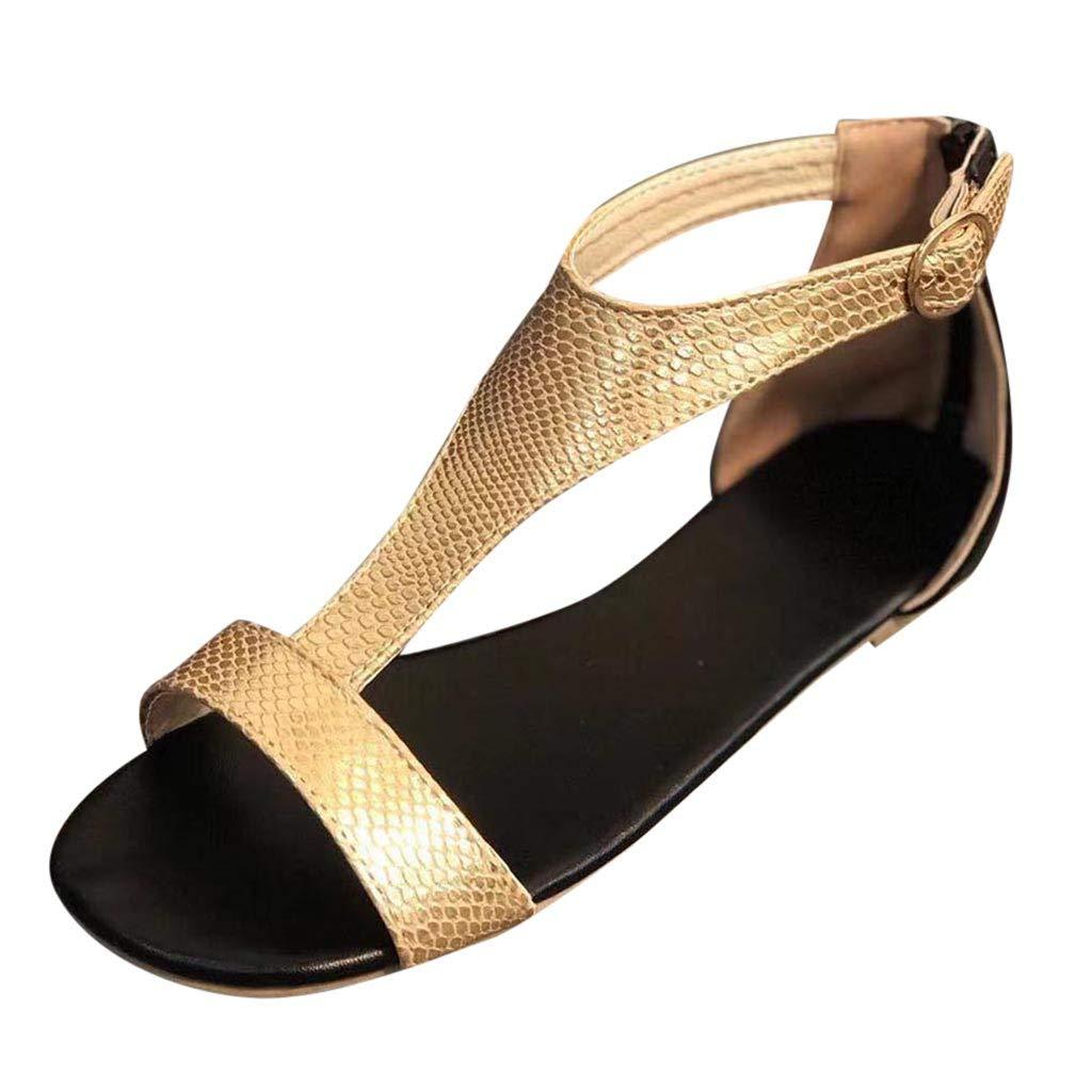 Femme Sandales,Chaussures à Lacets à Bout Ouvert sur la Plage pour Femmes,Tongs